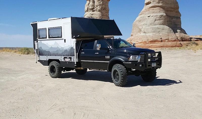 camper logic flat bed truck camper