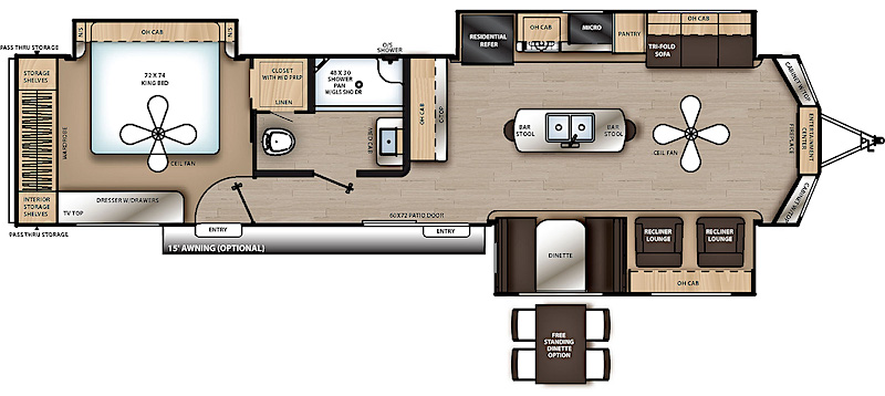 2019 Coachmen Catalina Destination Series 39MKTS