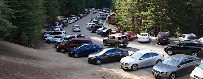 Glacier Point RV Parking at Yosemite
