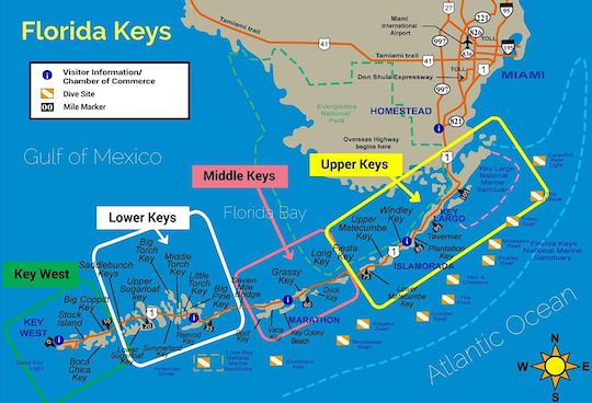RV Camping in the Florida Keys A Complete Guide Florida Keys-Map