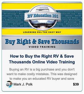 RV Show Tips and Advice RV Education 101