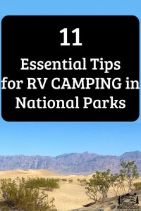 11 Essential Tips for RV Camping in National Parks