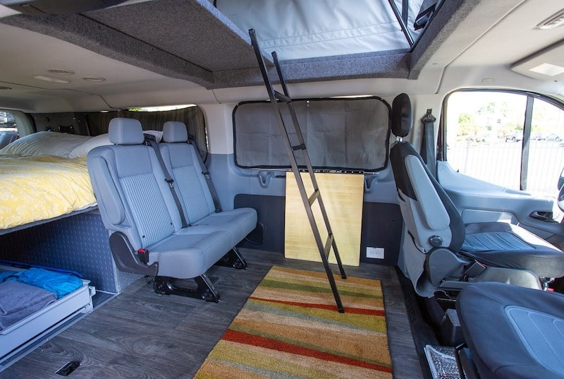 2018 Ford Transit pop top camper van rental
