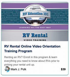 RV Education 101 RV Rental Course