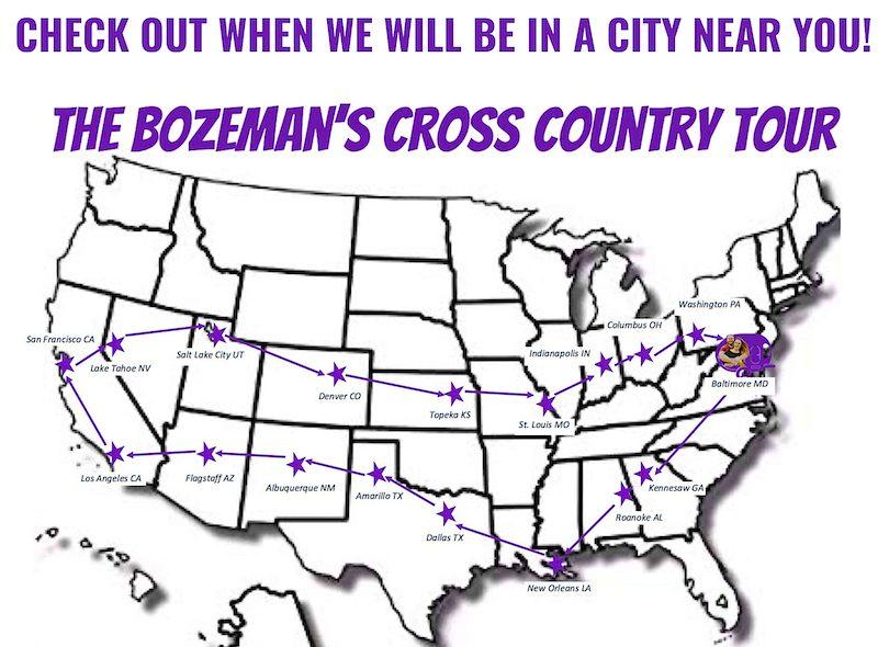 Bozeman Cross Country Tour Map