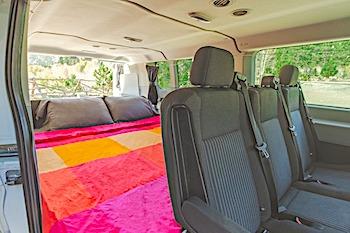 escape campervans big sur model fitout bed