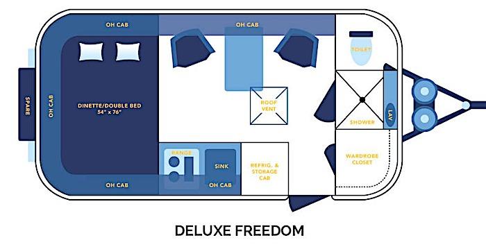 2020 17 Deluxe Casita Travel Trailers Floor Plan