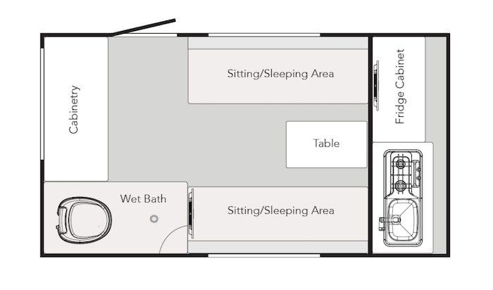 2020 NUCAMP RV TAB 320 CS-S Floor Plan