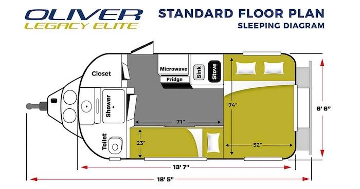 2020 Oliver Legacy Elite Floor Plan