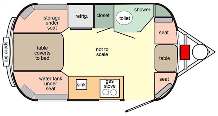 2020 Scamp 16 Floor Plan