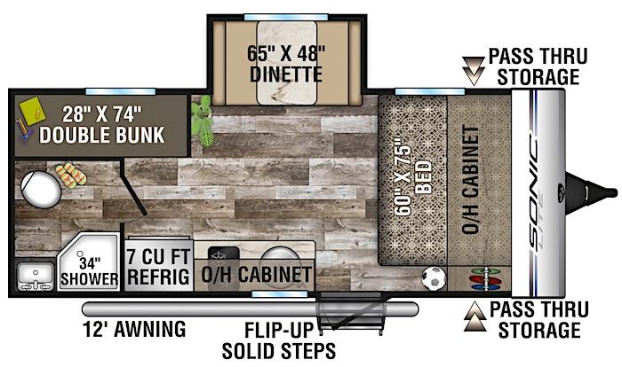 2020 Venture SONIC LITE SL169VUD Floor Plan