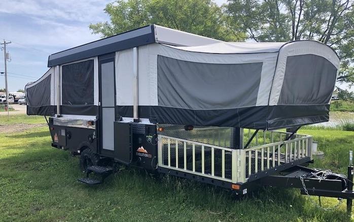 A Liner Somerset E3 Deck Popup Camper Toy Hauler