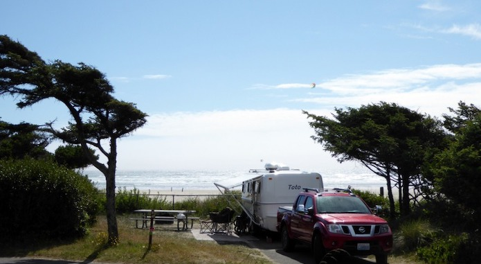 Beachside State Recreation Site RV Beach campground