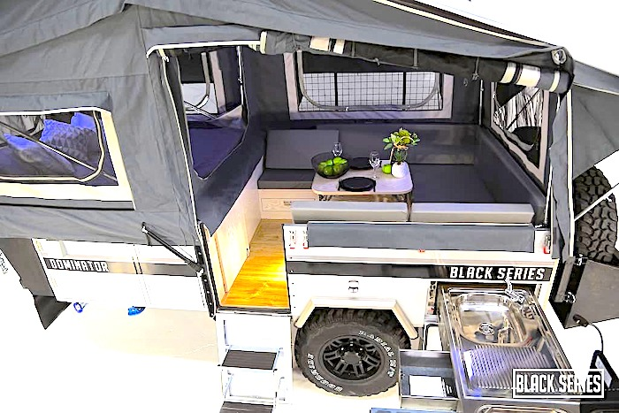 Black Series Dominator Off-road pop up camper interior