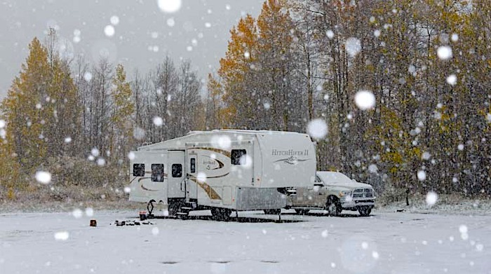 Can You Live in an RV in the Winter?