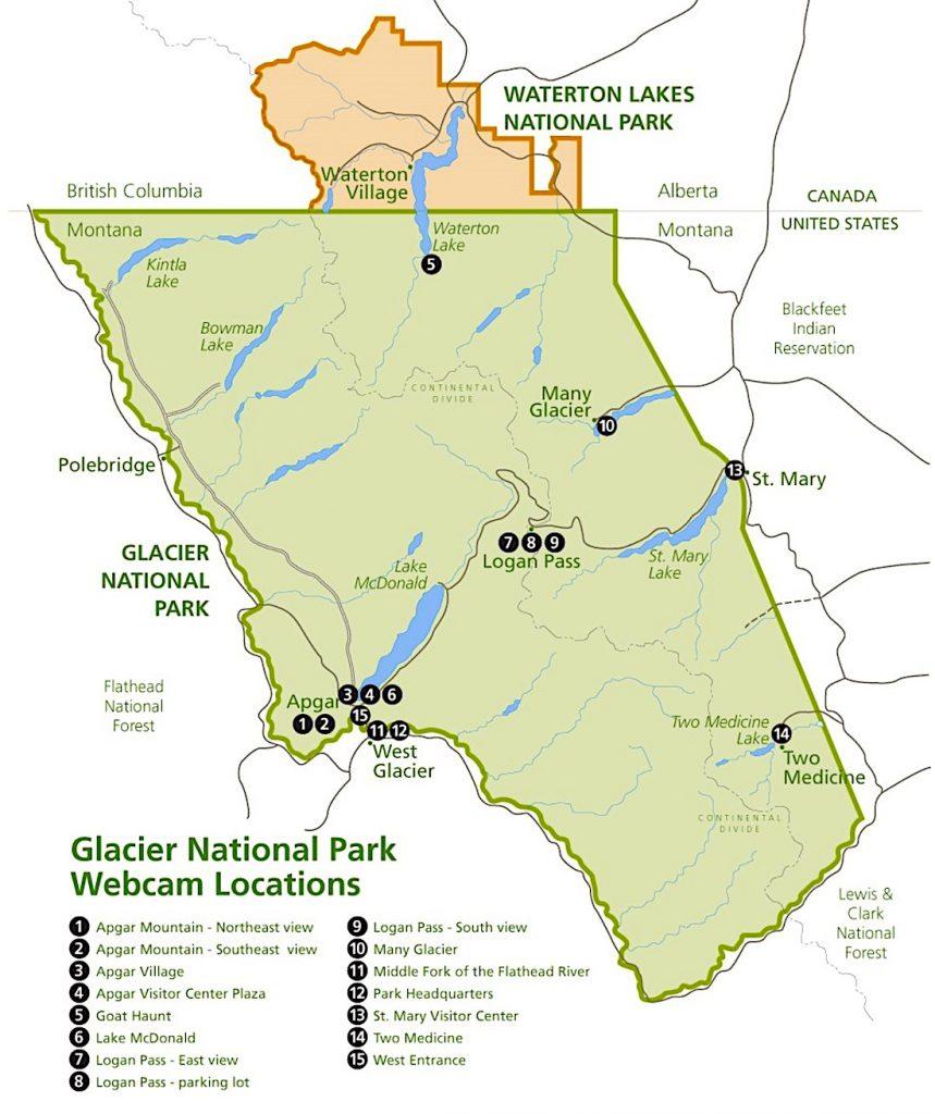 Glacier National Park Webcam Locations