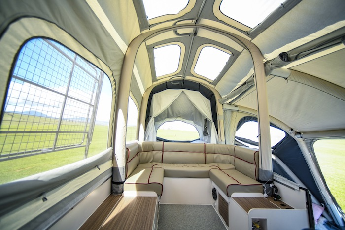 Opus 4 Sleeper Off road popup camper interior