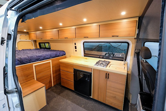 Stealth Camper Van for Off Grid Camping interior features