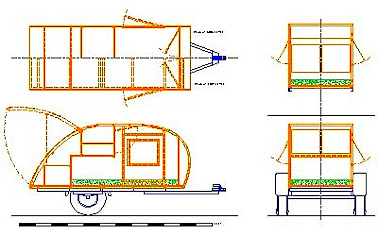 Teardrop trailer plan price