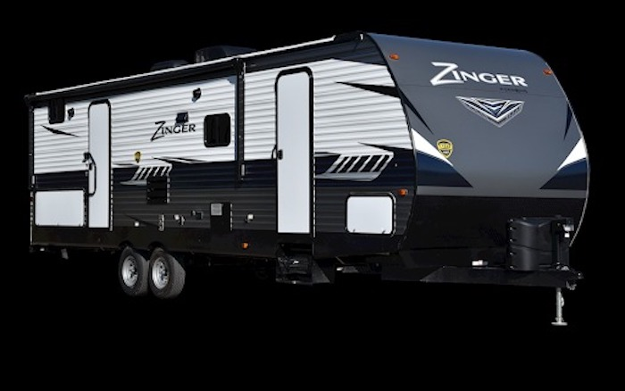 Travel Trailers with King Bed CROSSROADS ZINGER ZR340RE Ext
