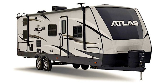Travel Trailers with King Bed Dutchmen Atlas 2920BH Ext