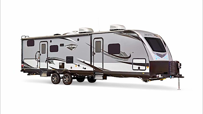 Travel Trailers with King Bed Jayco White Hawk 30 FLS Ext