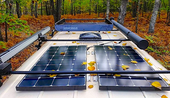 What is a Stealth Camper Van for Off Grid Camping rv solar panels