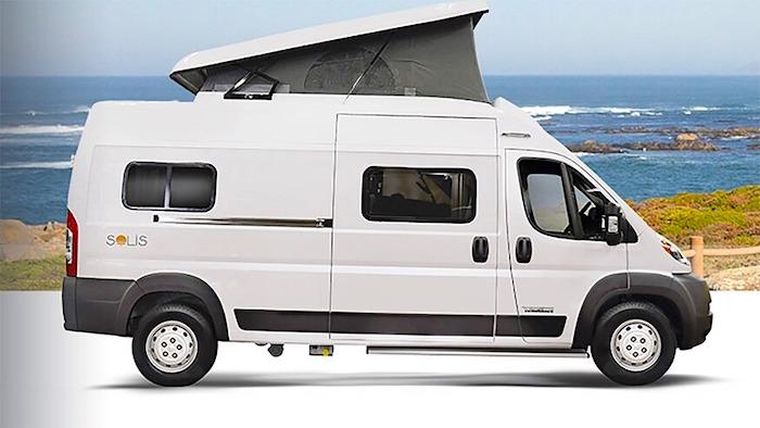 Winnebago Solis Stealth Camping off grid