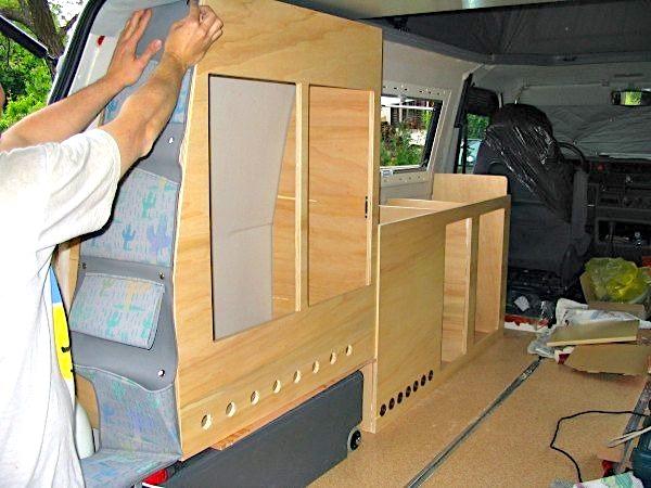 build stealth camper van for off grid camping