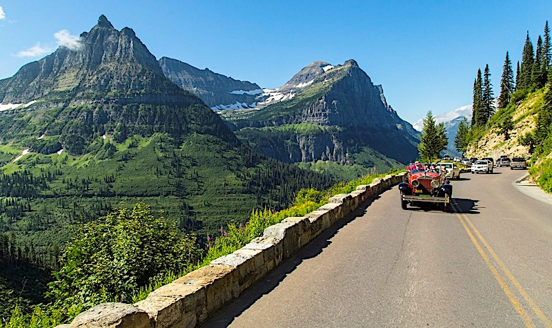 glacier NP Sun road best rv vacations in usa