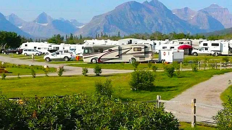 many glacier campground