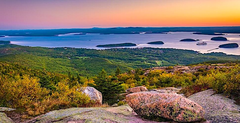 sunrise cadillac mountain acadia maine best rv vacations in usa