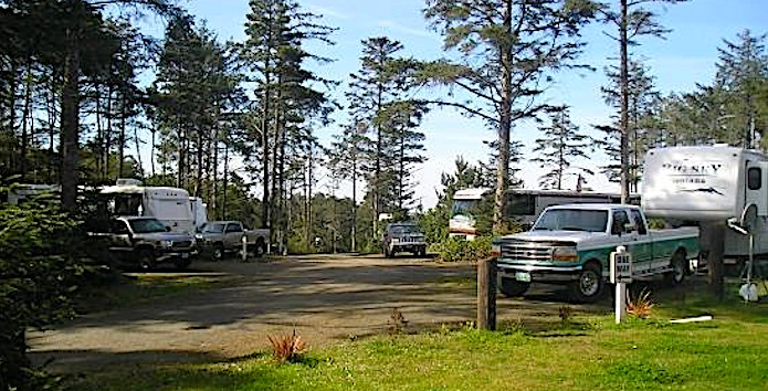whalers rest rv camping Oregon coast