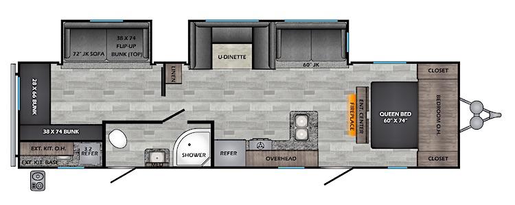 2020 CROSSROADS ZINGER ZR328SB floorplan
