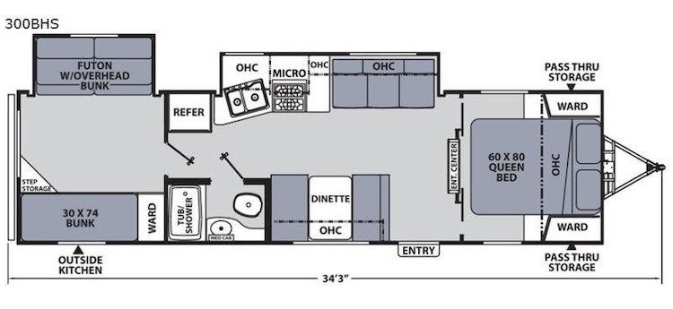 2020 Coachmen Apex Ultra Lite 300BHS floor plan