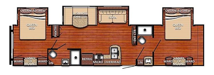 2020 Gulfstream Conquest 33DBD Floor plan