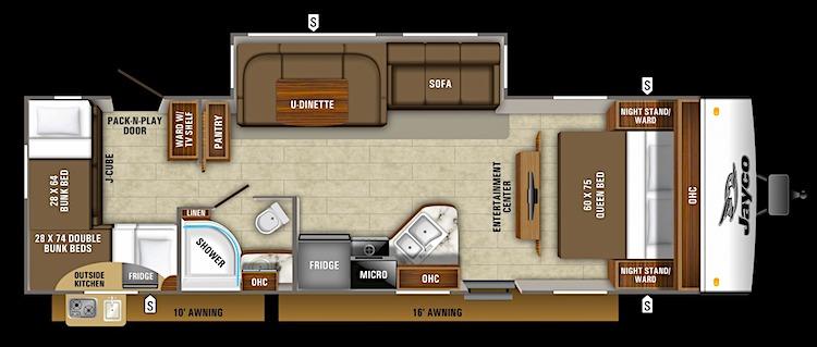 2020 Jayco Jay Feather 29QB Floor Plan