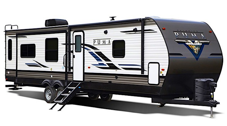 2020 Palomino Puma 32RBFQ2 travel trailers with two bedrooms