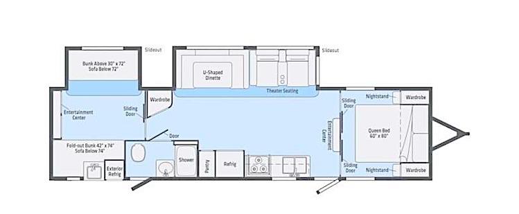 2020 Winnebago Minnie Plus 31BHDS floor plan