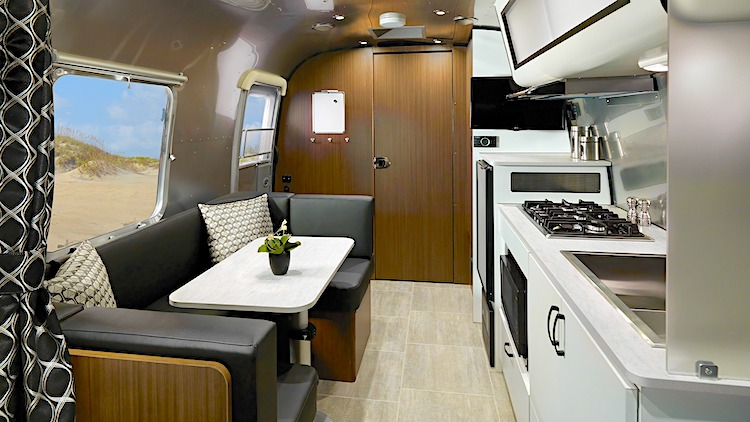 Airstream Caravel travel trailers under 5000 lbs with bathroom int