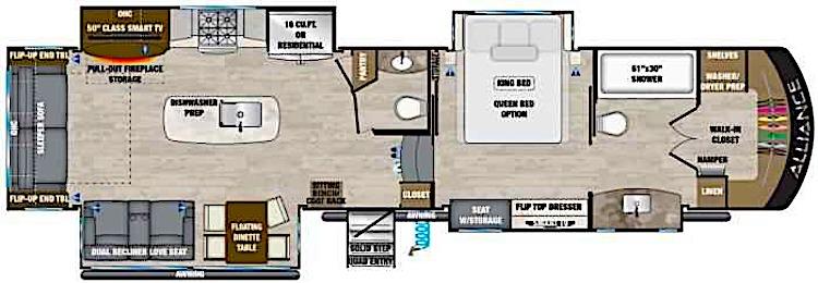 Alliance RV Paradigm 370FB floor plan