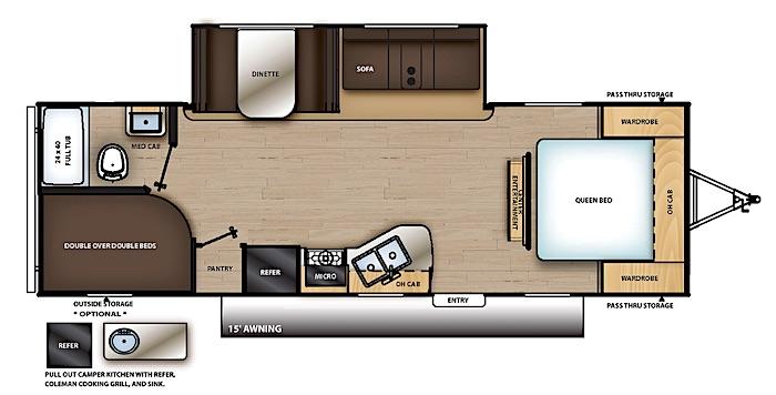 Coachmen Catalina 261BHS floor plan