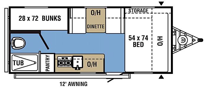 Coachmen Clipper 17BH floor plan