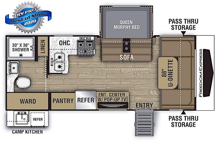 Coachmen Freedom Express Ultra Lite 195RBS floor plan