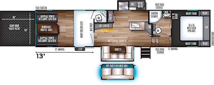 Forest River Cherokee Wolf Pack 325PACK13 floor plan