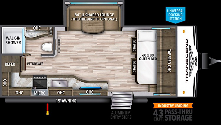 Grand Design Transcend Xplor 187MK floor plan