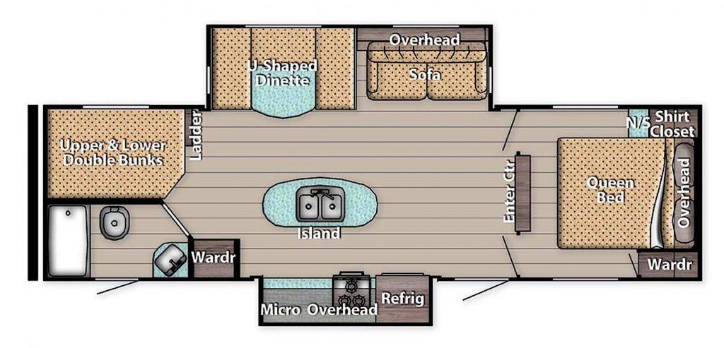 Gulf Stream Innsbruck 288ISL floor plan
