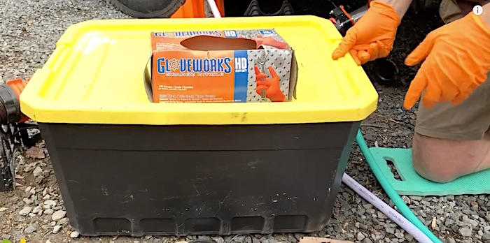 How To Store an RV Sewer Hose in a bin