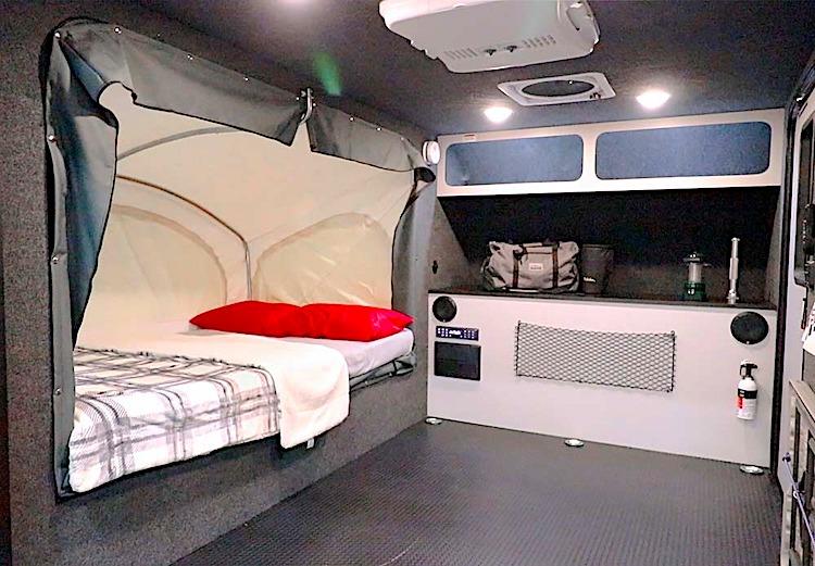 Intech Explore Flyer 10.5 hybrid travel trailer