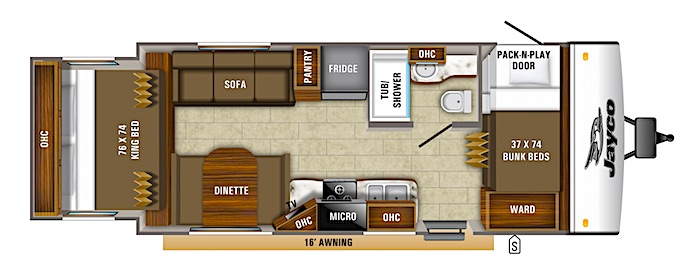 Jayco Jay Feather X213 travel trailer with bunk beds
